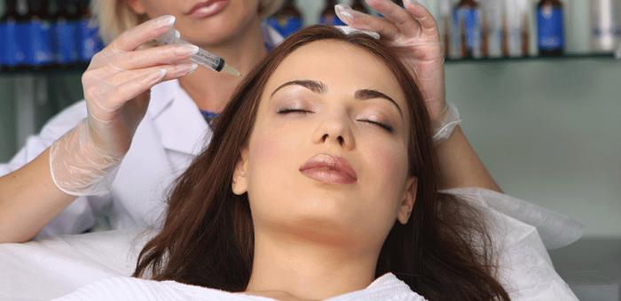 Проведение мезотерапии кожи головы